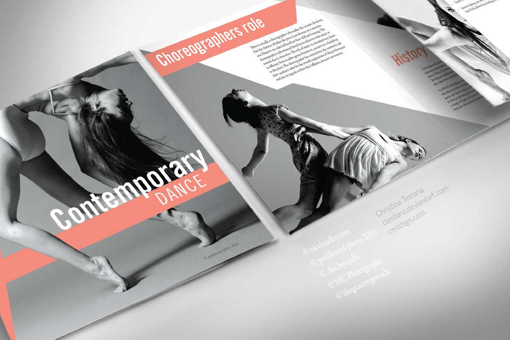 Contemporary Dance Brochure By Ctestana