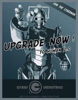 Cybermen poster - upgrade now by tibots