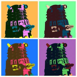 Daleks in Warhol style