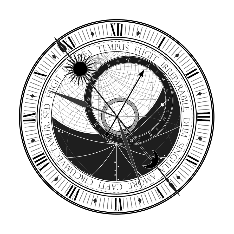 Astronomical Clock Tattoo: Astronomical Clock (WIP) By Tibots On DeviantArt