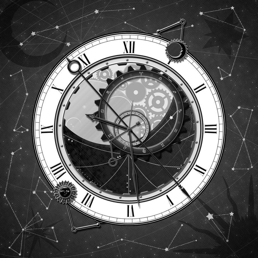 steampunk horloge by tibots on deviantart. Black Bedroom Furniture Sets. Home Design Ideas