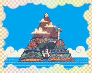 Koholint island shaped like the triforce