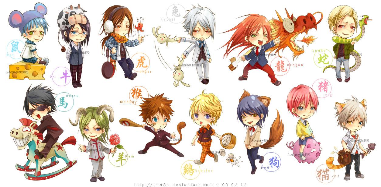 Chinese Zodiac - School Boys by LanWu on DeviantArt