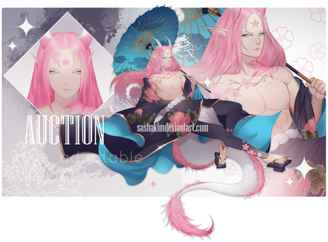 [CLOSED] Spring Flower Dragon auction
