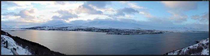 Akureyri panorama by Miuquz
