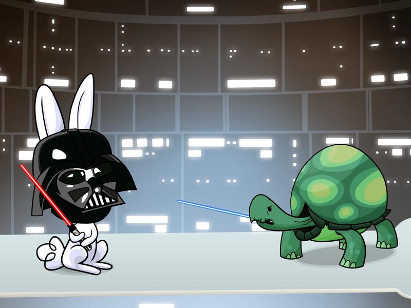 Darth Angel vs. Luke Tankwalker by 10art1