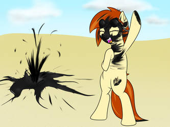Trotcon Commission - OC discovering oil by 10art1