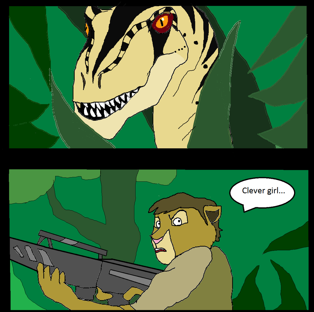 Clever Girl Raptor: Clever Girl (remake) By Dandinofthebluefire On DeviantArt