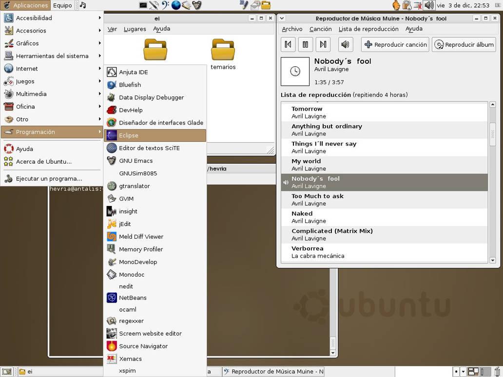 Ubuntu-ish desktop by hevria on DeviantArt