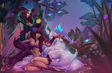 Elderwood Ahri and LeBlanc