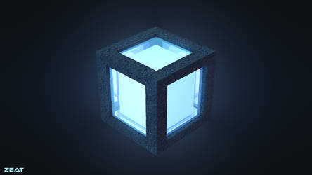 Abstract glowing cube