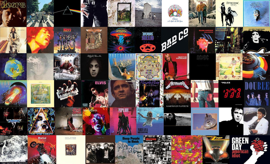 Top 59 Classic Rock Studio Albums By Espioartworks On