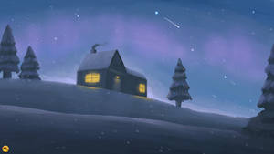 Snowy Peaceful Christmas Night