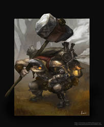 Steammech troll warrior by Deviantcloverlee