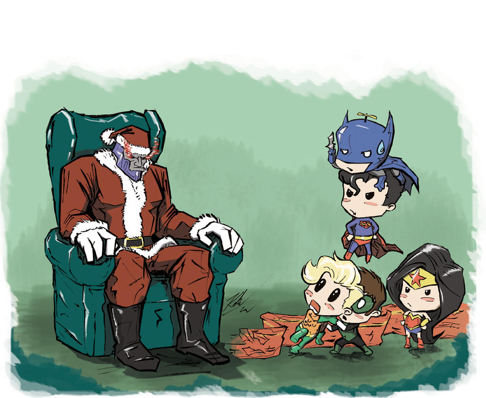 Little Justice League Christmas 2013 by johnni-k on DeviantArt