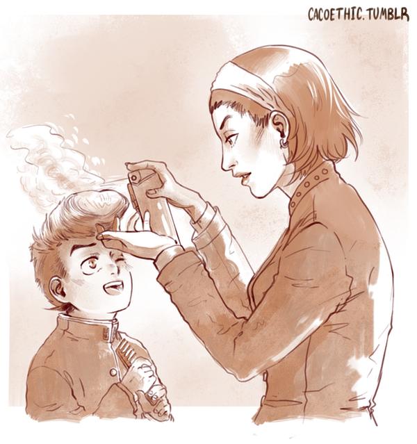 [Jojo's Bizarre Adventure] Josuke And Tomoko. By Cacogenic