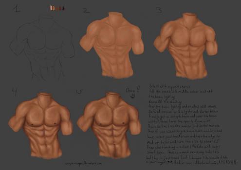 Easy male torso tutorial by Vanya-Ninque