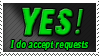 Yes to Requests Stamp by Ravenclaw105