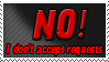 No to Requests Stamp by Ravenclaw105