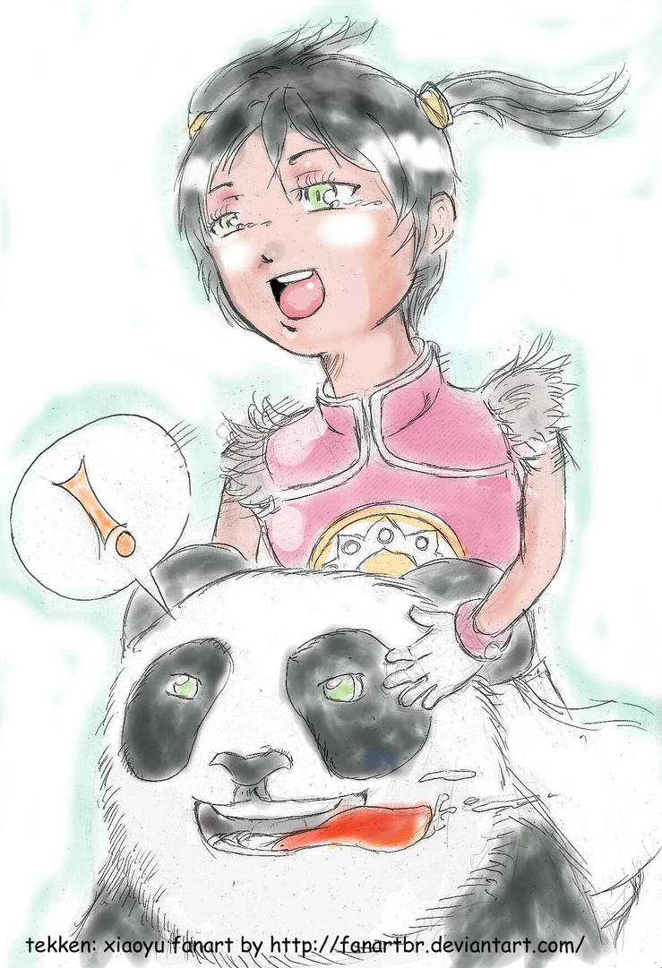 meus desenhos Chibi_xiaoyu_and_panda__tekken__by_fanartbr-d5nsrg0