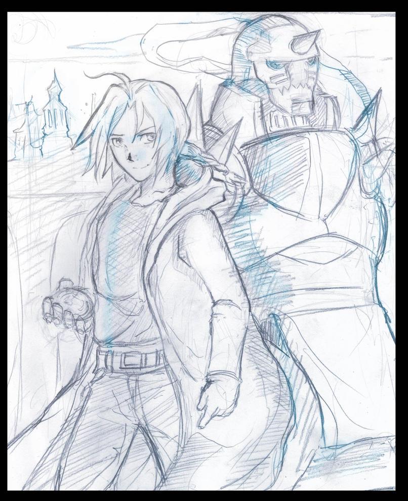 meus desenhos Elric_brothers_sketch_by_fanartbr-d65503x
