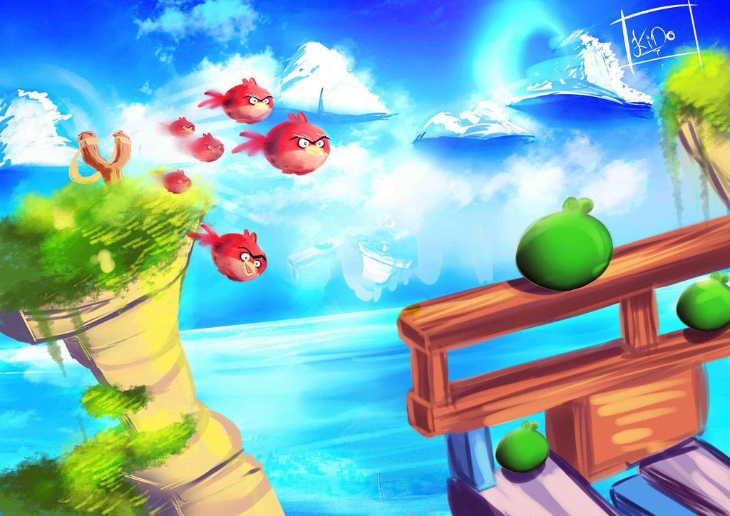 Angry Birds by fanartbr