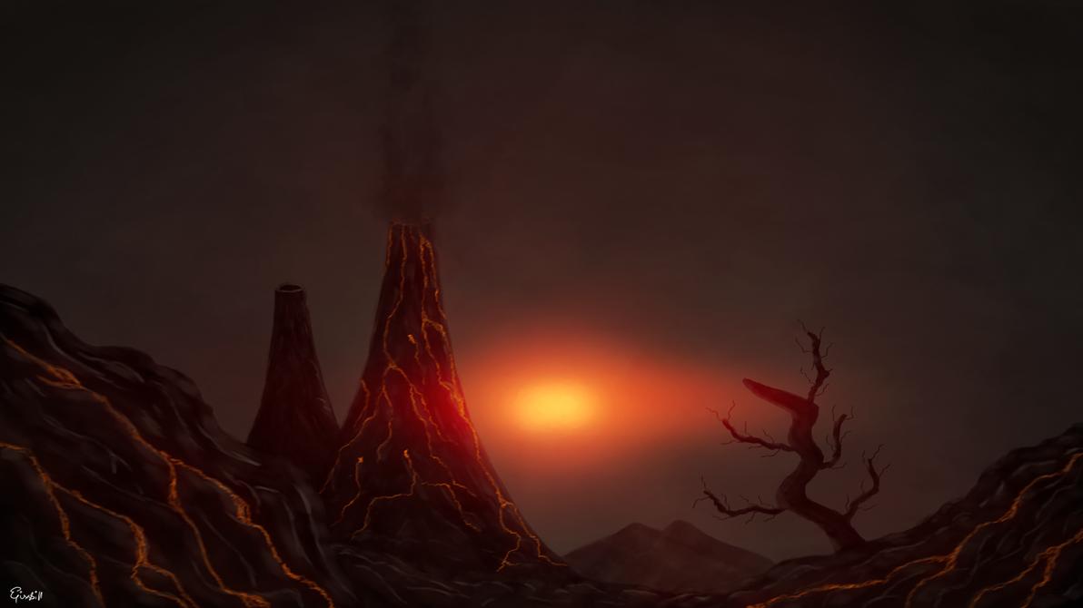 Lava Landscape by Epixskill