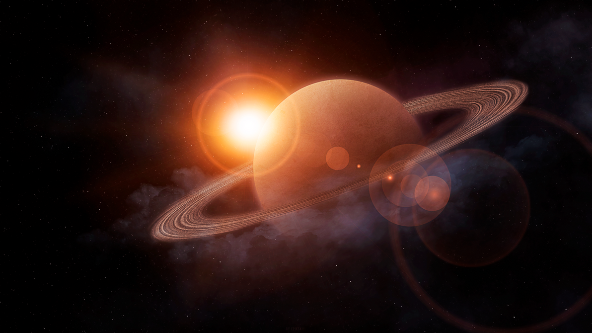 Saturn Sunrise by Epixskill