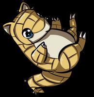 sandshrew bounce by ZeeKayArt
