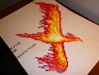 Perler Phoenix Sprite 2nd by squirrelization