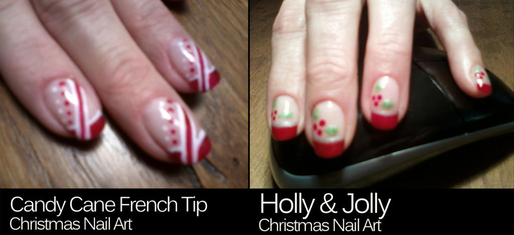 Nail art candy cane french tip and holly jolly by myxprint on nail art candy cane french tip and holly jolly by myxprint prinsesfo Choice Image