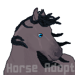 Pixel Horse Adopt: Blue Roan (Open) by Mirthful-Adopts
