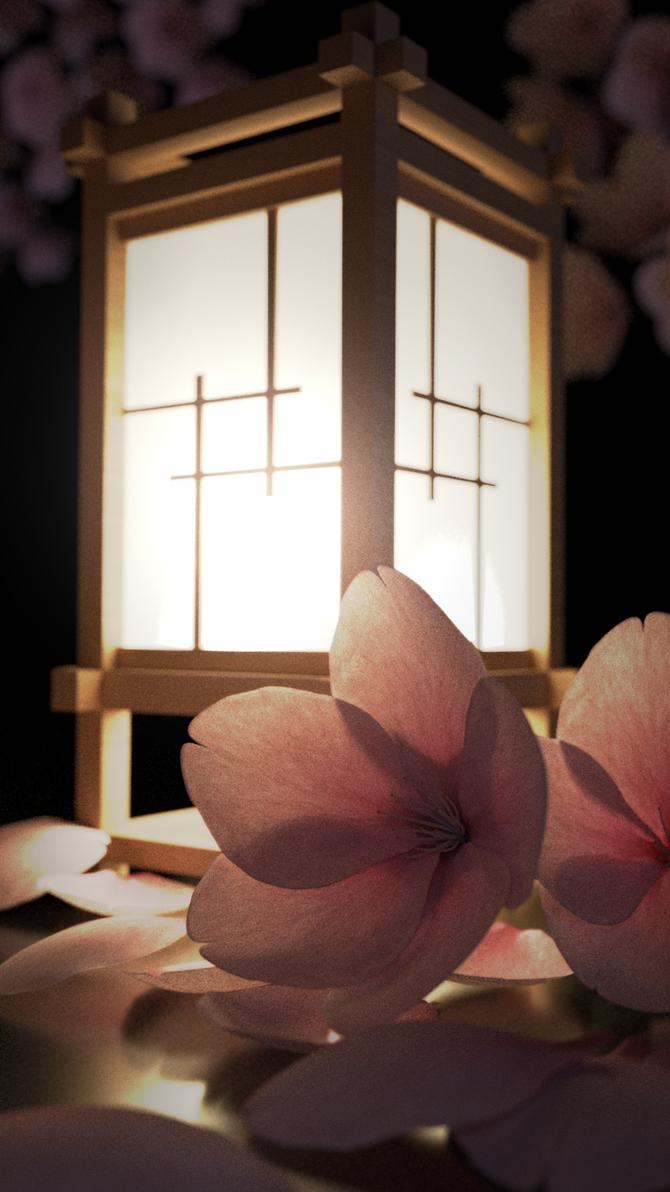 A lamp in Japan by JJampy