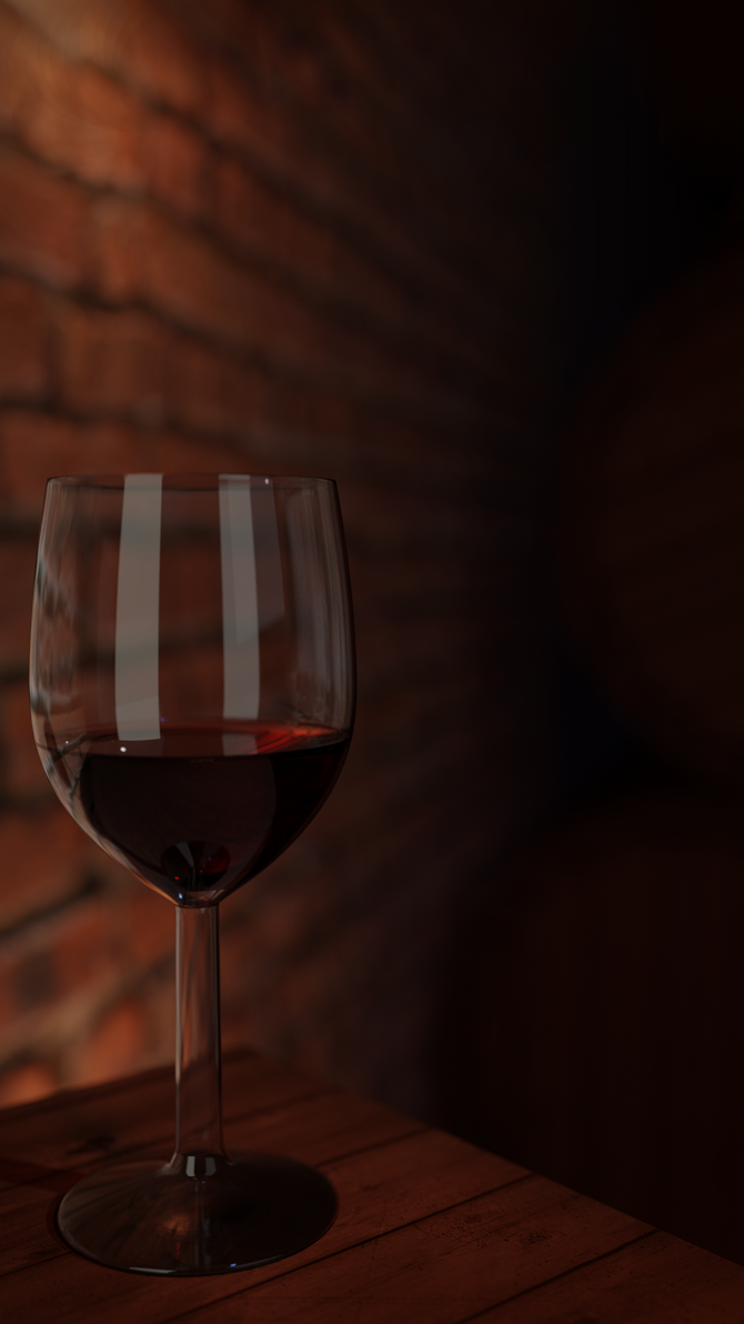 A galss of wine by JJampy