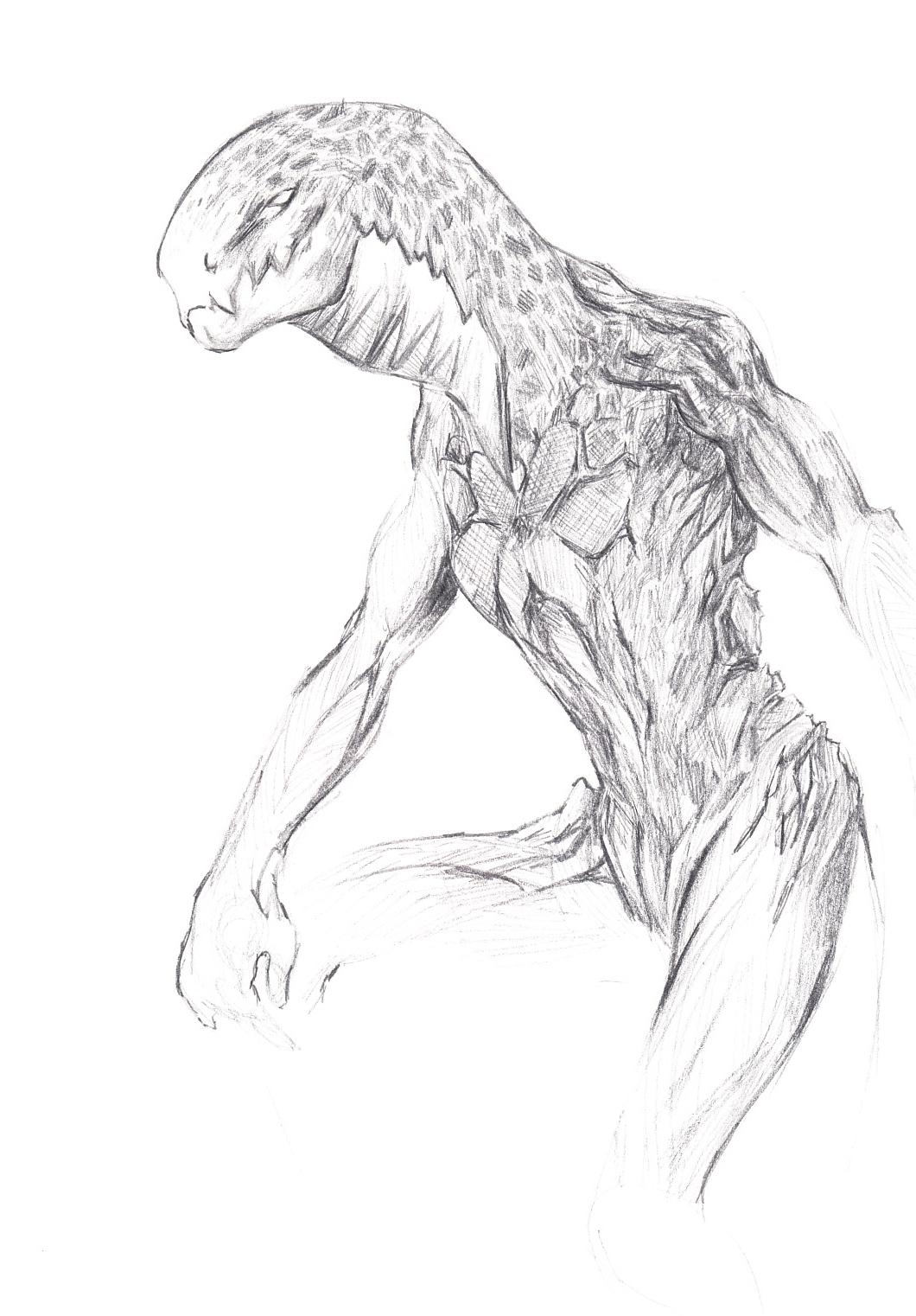 pencil monster by minnmon on DeviantArt