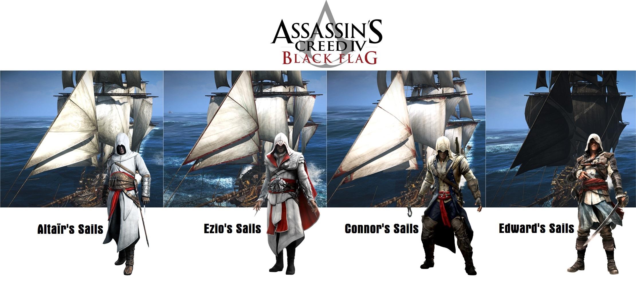 Как сделать в ассасине 4 черный флаг