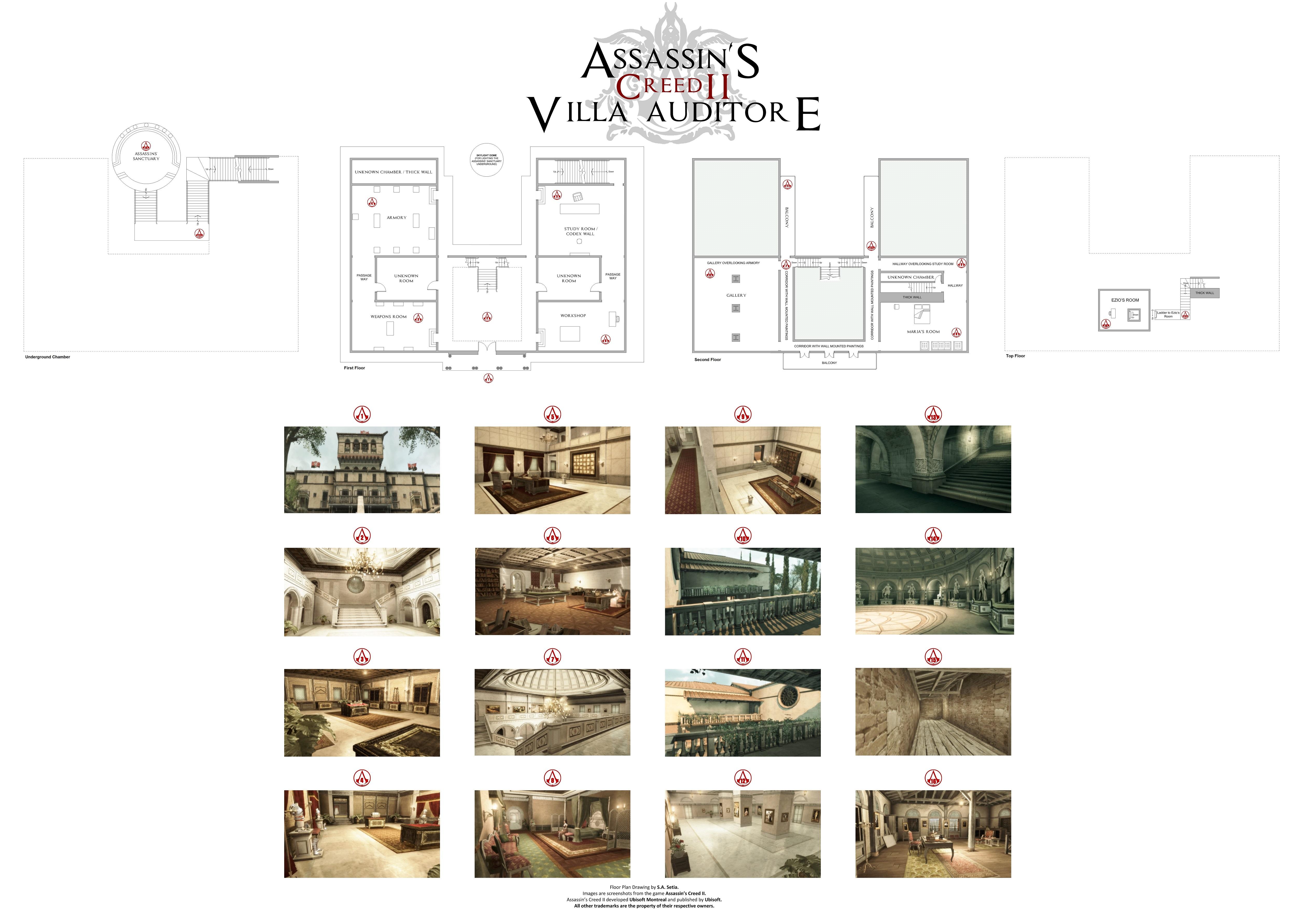 Assassin's Creed II - Villa Auditore Floor Plan by