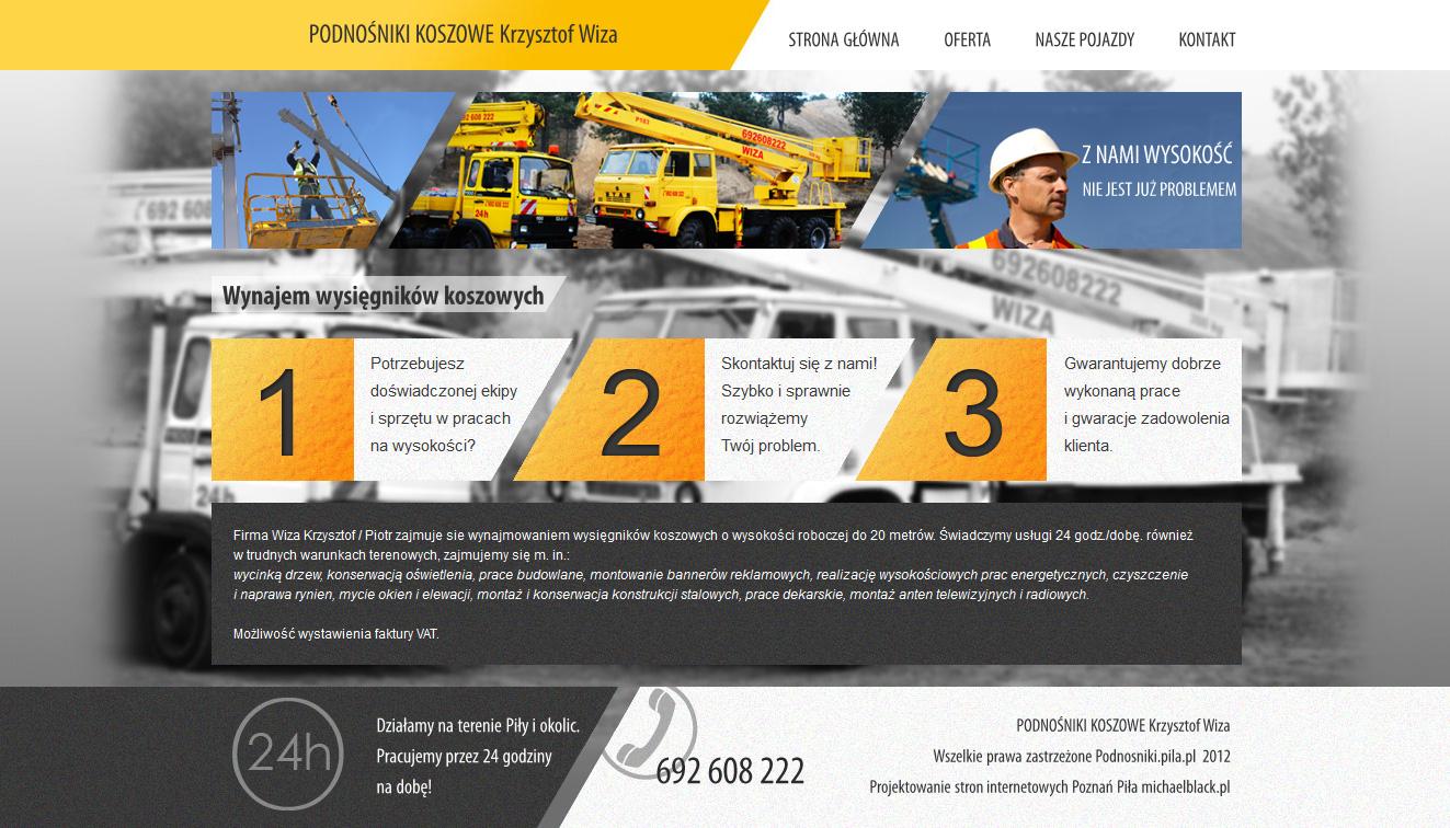 PODNOSNIKI KOSZOWE Krzysztof Wiza website by michaelblackpl