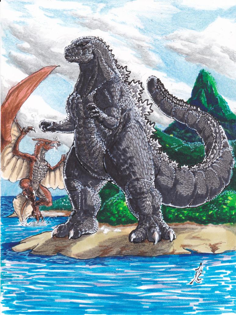 Godzilla II by SuperSaiyanGod-Zilla
