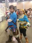 AWA 2017: Link and Zelda BOTHW by dcb2art