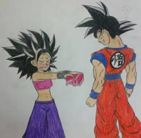 Caulifla's Valentine's Gift to Goku. by dcb2art
