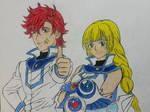Obelisk Blue: Ingrid and Sylvain. by dcb2art