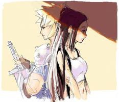 Cloud and Tifa