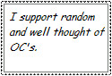 I support OCs stamp by Amisca
