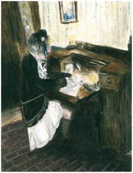 Oil pastel impressionism: Ciel cosplay