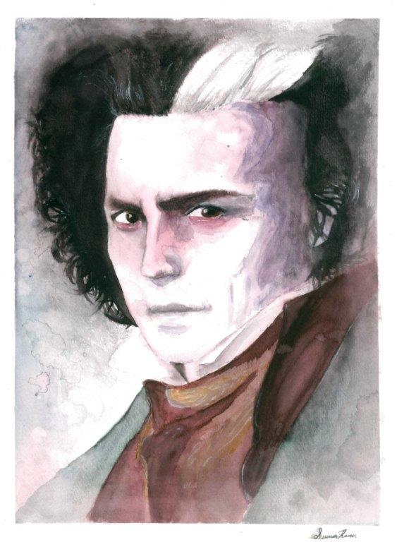 water color portrait: Sweeny Todd by Leviosasilver5393