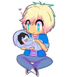 garroth and baby zane :3