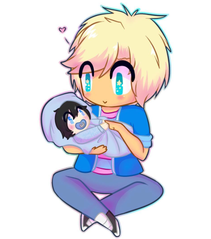 garroth and baby zane :3 by AlphaPack6