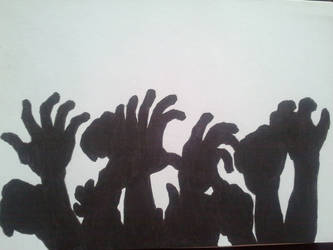 Zombie Hands silhouette by UndeadNemesis