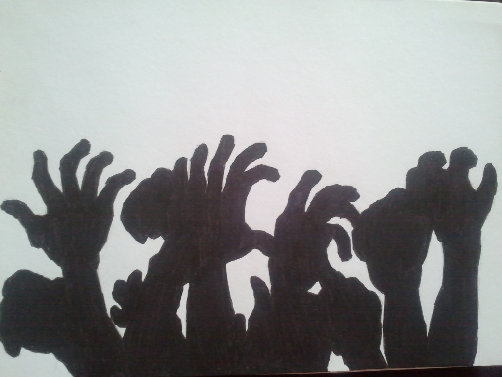Zombie Hands silhouette by UndeadNemesisZombie Hand Silhouette